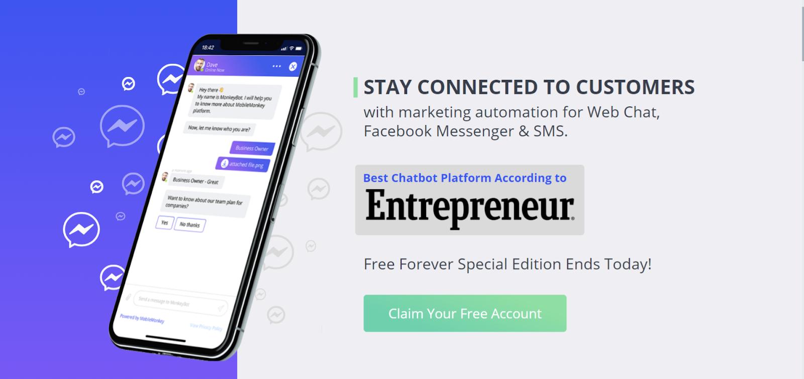 create MobileMonkey account