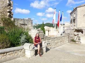 Photo: La princesse sur la place Rainier III de monaco
