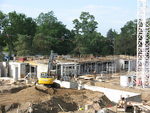 Photo: 2nd floor south floor - forming for concrete floor underway July 27, 2012