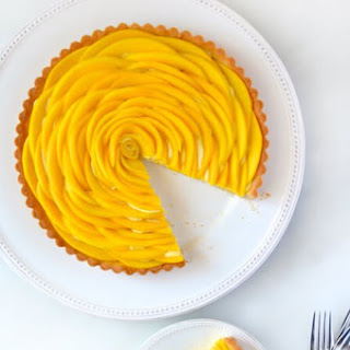 Mango Tart with Vanilla Bean Pastry Cream.