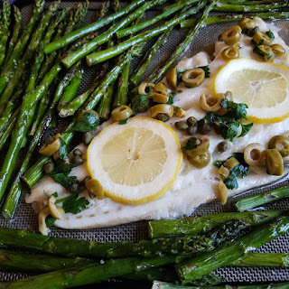 SHEET PAN COD with LEMON and OLIVES Recipe