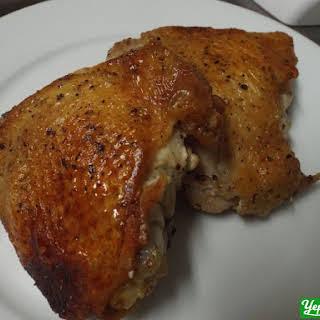 Simple Crispy Salt and Pepper Chicken Thighs.