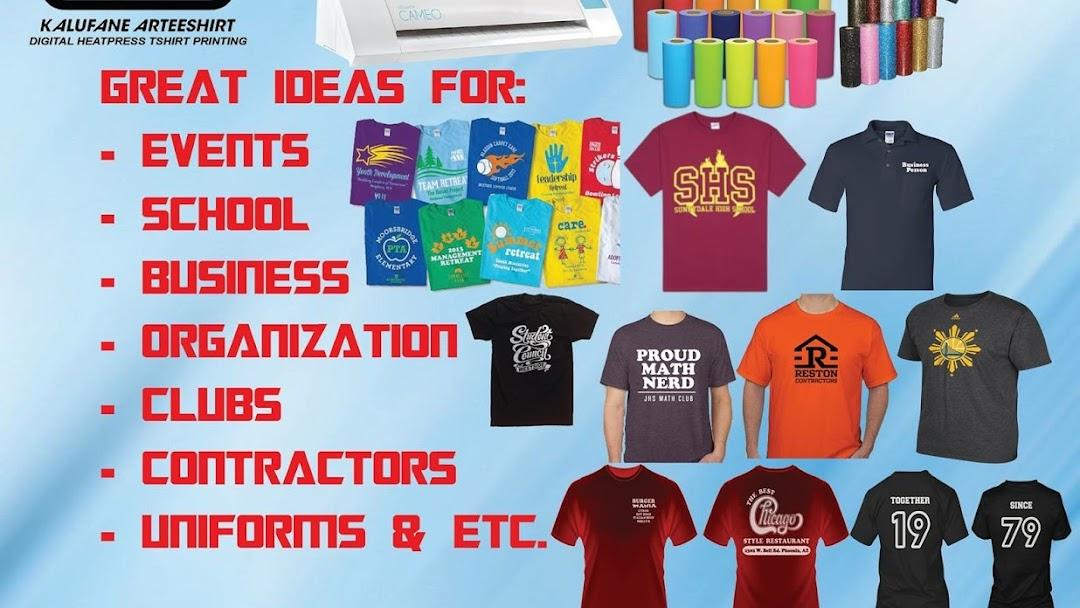 Kalufane Arteeshirt Digital Heatpress Tshirt Printing