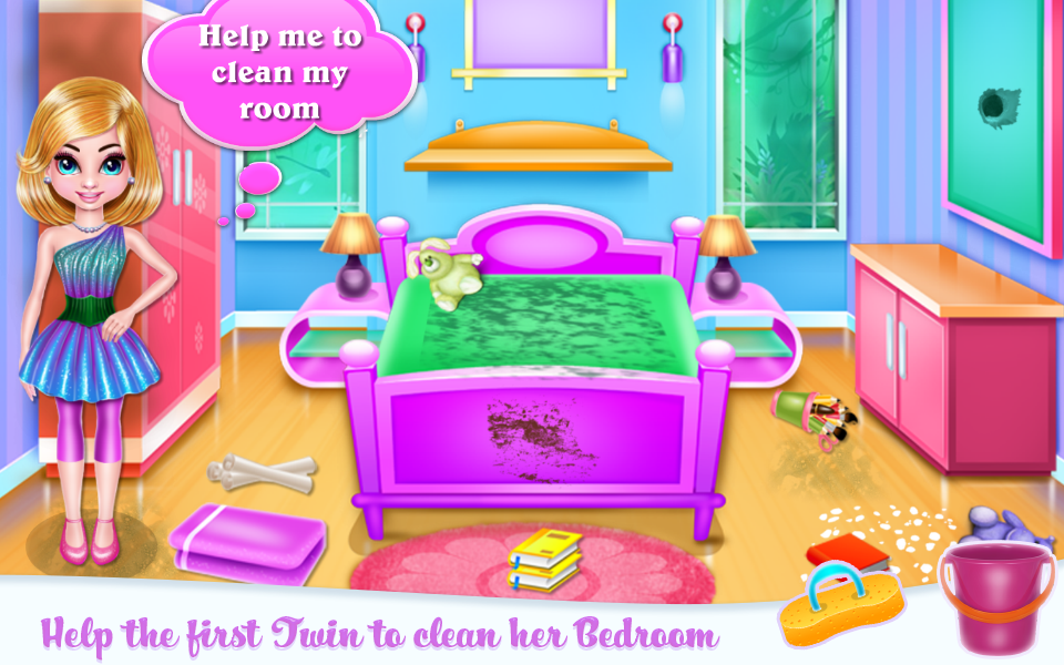 Twin Girls Room Cleaning- screenshot