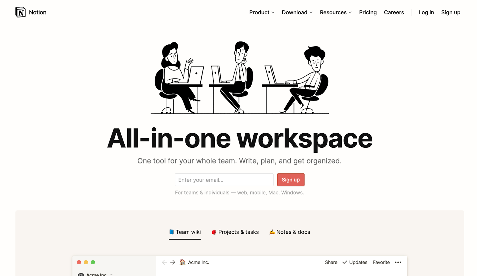 notion homepage