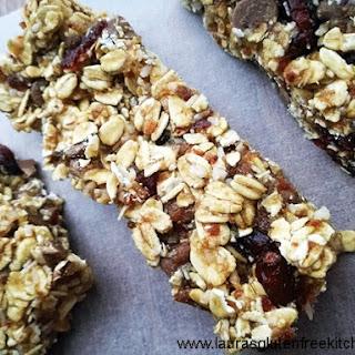 Gluten Free Chocolate Chunk Cranberry Granola Bars.