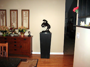 Photo: And here's the pedestal surmounted by an awe inspiring western sculpture.