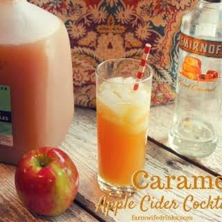 Caramel Apple Cider Cocktail.