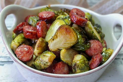 Crispy Brussels Sprouts With Andouille