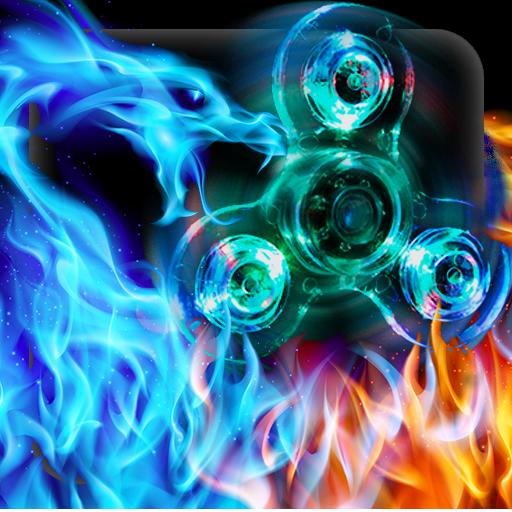 Flame Dragon Fidget Spinner Keyboard Theme