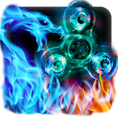 Flame Dragon Fidget Spinner Keyboard Theme