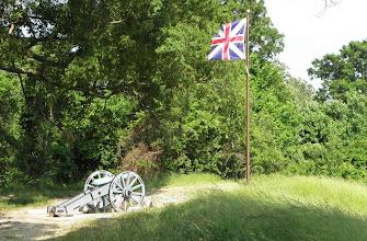 Photo: British encampment at Yorktown
