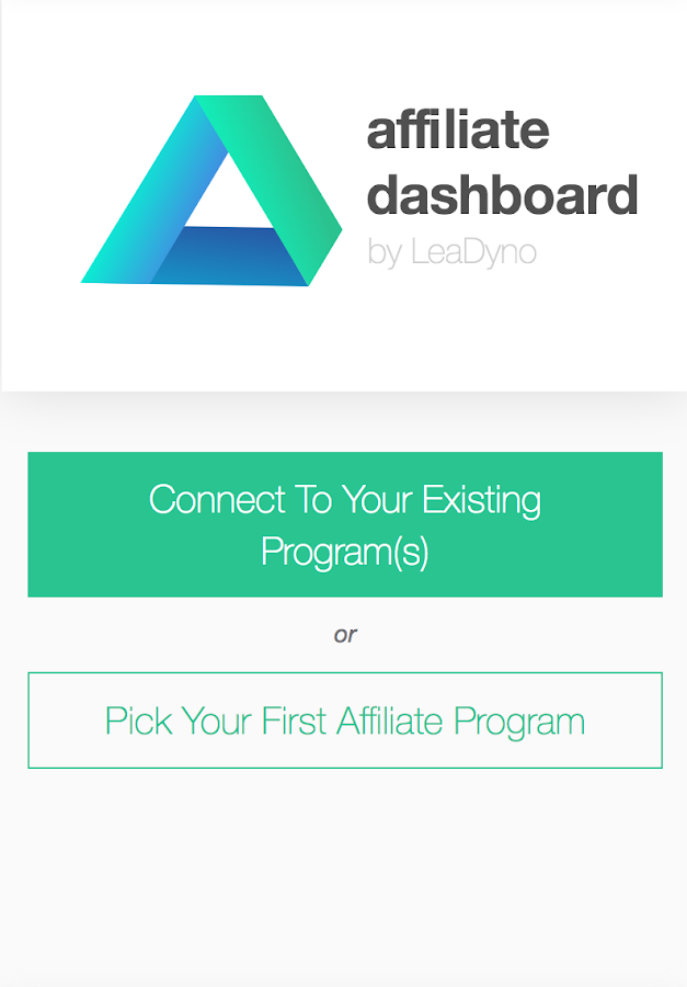 Affiliate Dashboard- screenshot