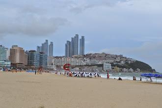 Photo: Busan's Haeundae beach
