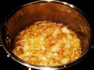 Place the onions and honey in a small pot and bring to a simmer....