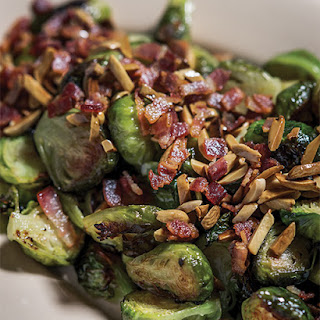 Roasted Bacon & Almond Brussels Sprouts