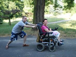 Photo: 14 VII 2010 roku  -  kto silniejszy  ? Wózek  czy Krzysio ?