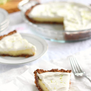 Paleo Key Lime Pie with Coconut Pecan Crust.
