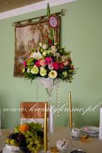 Photo: Bajeczny ślub nad Sanem .... czyli przesympatyczna Para Młoda, niesamowita obsługa hotelowa, przepiękne kwiaty ... czego chcieć więcej ?  Hotel Bona w Sanoku Dekoracja kwiatowa - www.kwiatykrosno.pl