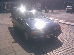 Photo: A bemused elderly gentleman beginning to panic as his disabled badge doesn't stretch to double-yellow parking to pick up fastfood. My Hi-Viz shirt didn't help matters, and I must have cleared all 3 town car parks of untaxed and ticketed drivers, making quick getaways as I looked for Classic aged cars.