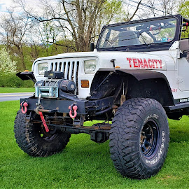 Tenacity by Brad Lehigh - Transportation Automobiles ( spring, yj, top down, jeep, convertible, wrangler, winch )