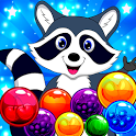 Raccoon Pop - Match & Blast Bubble Shooter Puzzle! icon