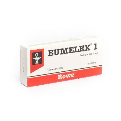 Bumetanida Bumelex 1 Mg X 16 Comprimidos Rowe 1 mg x 16 Comprimidos