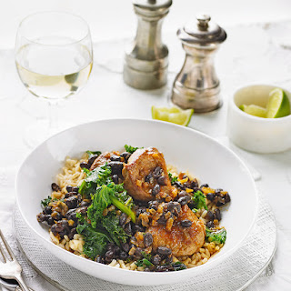 Smoky Pork and Black Bean Stew with Kale Recipe