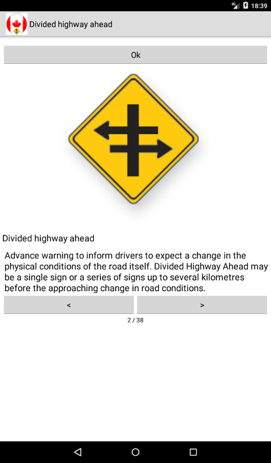 Road and traffic signs Canada