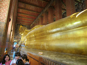 Photo: Temple of the Reclining Buddha - this thing was massive