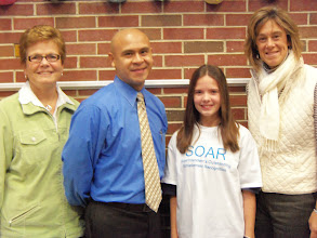 Photo: Kylee received the Superintendants Outstanding Achievement Recognition (SOAR) award with Mrs. Gina Wironen, Mr. Andres Vera, Kylee and Mrs. Wendy Hess.( December 2012)