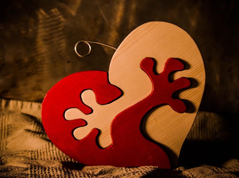 Portafoto del cuore di Lisola