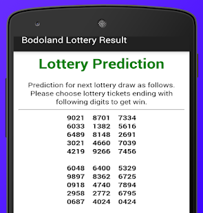 Bodoland Lottery Result- screenshot thumbnail