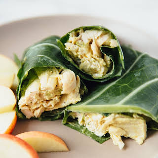 Collard Green Chicken Salad Wraps.
