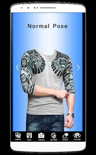 Men Designed T-Shirt Foto Suit