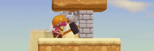 ビルダーマリオ_ブロック破壊