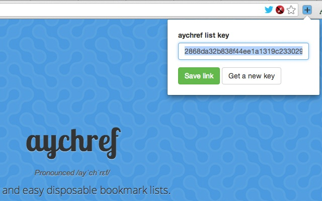 aychref.com browser extension Screenshot