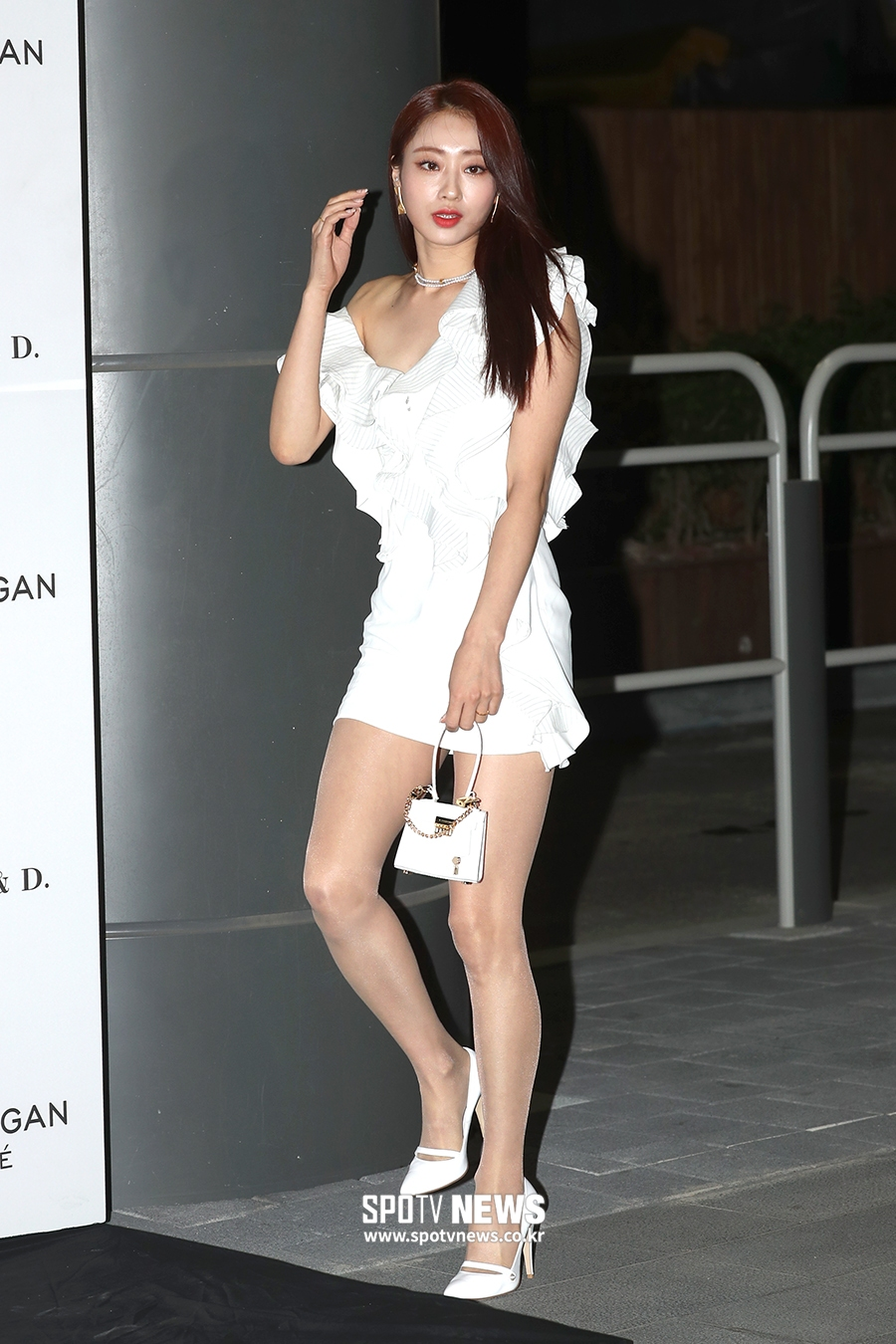 kyungri sexy white dress 4