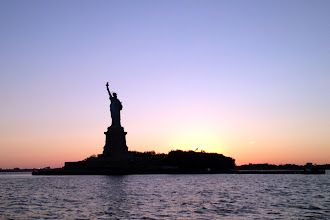 Photo: Statue of Liberty at sunset http://ow.ly/caYpY