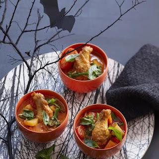 Creepy Coconut Curry for Halloween.