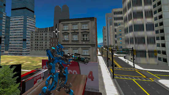 Robots Fighting In Street 1