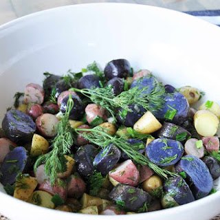 All American Red, White & Blue Potato Salad with Dill Dressing