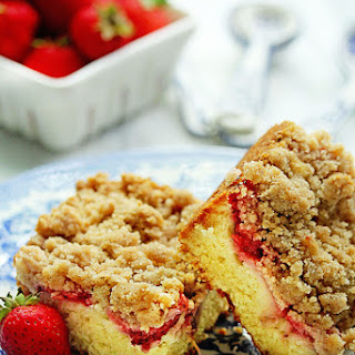 Strawberry Crumble Coffee Cake