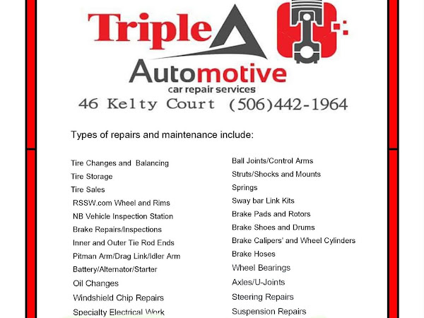 Triple A Automotive - Napa Care