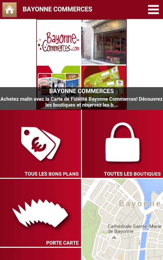 ma carte vip bayonne commerces android apps on google play. Black Bedroom Furniture Sets. Home Design Ideas