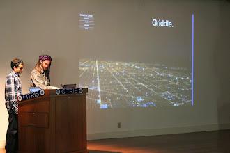 Photo: Michael Cohen introduces Griddle, his power grid video game
