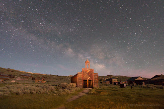 Photo: Milky Way over Bodie Firehouse