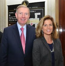 Photo: BBA President Paul Dacier and BBA Council member Diana Lloyd (Choate Hall & Stewart).