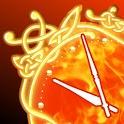 Fire Clock widget deluxe icon