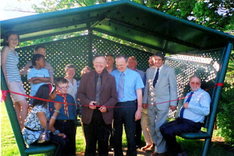 Photo: Kent CC Cllr Northey opening the Teen shelter 8th May 2008